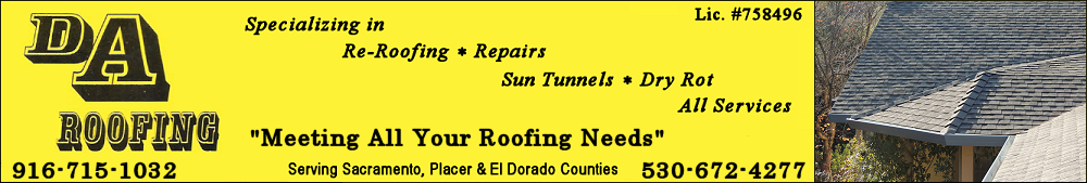 DA Roofing - Residential & Commercial Roofer Sacramento, Placer, and El Dorado Counties